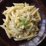 Makaron z fenkułem i serem pleśniowym