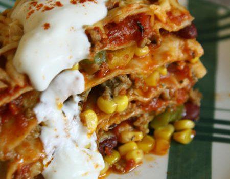 Lasagne meksykańska