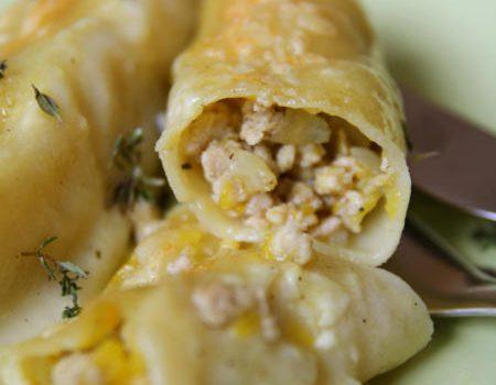 Cannelloni z dynią i kurczakiem