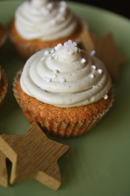 Muffinki z kremem z zielonej herbaty