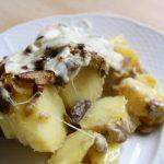 Ziemniaki zapiekane z leśnymi grzybami