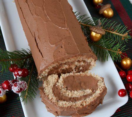 Rolada piernikowa z kremem czekoladowym