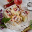 Ciasto drożdżowe z rabarbarem i jabłkiem