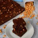 Brownie z masłem orzechowym i orzeszkami