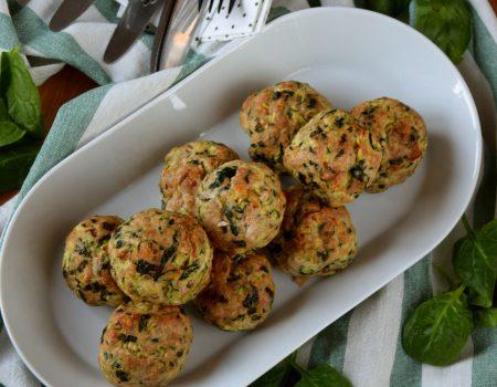 Pieczone klopsiki z indyka i warzyw
