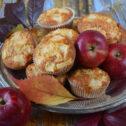 Muffinki jabłkowe z płatkami owsianymi