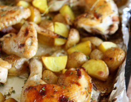 Kurczak pieczony z lawendą i miodem
