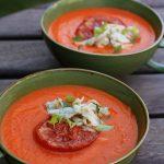 Zupa krem z pieczonych pomidorów z lanymi kluseczkami