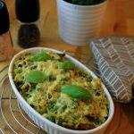 Zapiekane orzo z zielonymi warzywami