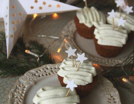 Muffinki piernikowe z kremem mascarpone