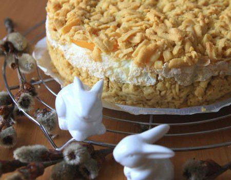 """Ciasto ,,Chmurka"""" z brzoskwiniami"""