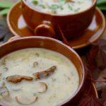 Gęsta zupa z leśnych grzybów