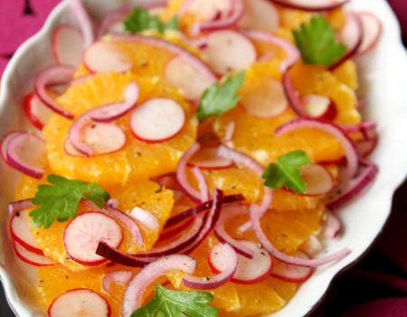 Sałatka z pomarańczy i rzodkiewek