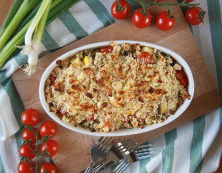 Warzywa zapiekane pod kruszonką