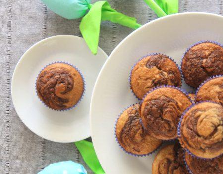 Muffinki bananowo-fistaszkowe z Nutellą